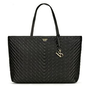 NWT VICTORIA'S SECRETBlack Studded Everything Tote